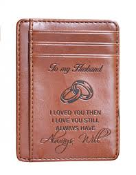 this is a thoughtful gift that will keep a special message from you to your husband with him at all times