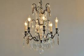 pair of antique crystal chandeliers