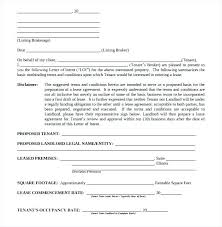 Letter Of Intent Form Real Estate Rental Commercial Sample Property ...