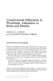 constitutional differences in physiologic adaptation to stress and  inside