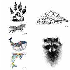 черная маленькая лапа временные татуировки женщины боди арт енота кошка долина