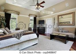 Elegant Master Bedroom With Tray Ceiling   Csp5468647