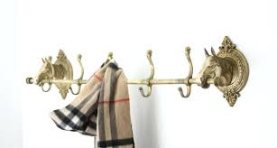 Horse Coat Rack Impressive Brass Coat Rack Vintage Vintage Brass Horse Head Coat Rack