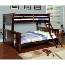 Furniture of America Spring Creek Dark Walnut Twin Over Queen Bunk Bed
