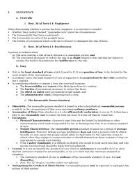 negligence oxbridge notes united states negligence outline