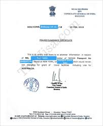 Clearance Certificate Sample Get Indian Police Clearance Certificate Pcc By Indian