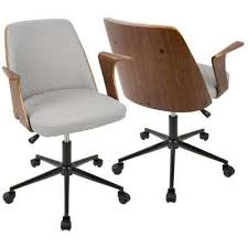 Mid century modern office furniture Herman Miller Verdana Walnut And Grey Office Chair Home Depot Wood Gray Midcentury Modern Office Chairs Home Office