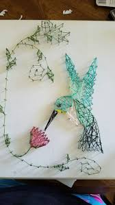 String art hummingbird for grandma