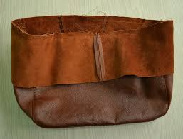 how to sew top parts of bag together