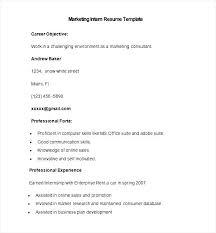 intern sample resume sample marketing intern resume template free samples examples templates internship resume templates