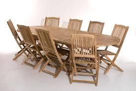 Salon De Jardin En Teck Sumbara 16 1 Table Ovale Double