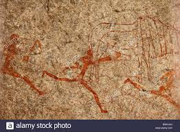 cave paintings in matopo national park zimbabwe stock image