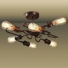 unique ceiling lighting. Unique Ceiling Lights Antique Copper Finished 6 Light Shape Led Semi Flush Lighting F