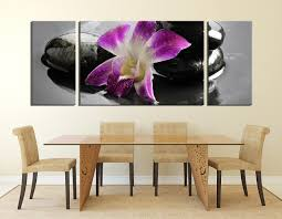 3 piece large pictures dining room huge pictures floral canvas wall art purple on orchid flower wall art with 3 piece artwork purple flower multi panel art orchids canvas wall