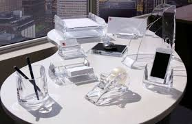 acrylic desk accessories set