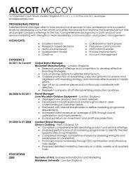 Marketing Resume Skills Examples Marketing Resumes Resume Examples Entry Level Skills 24 15