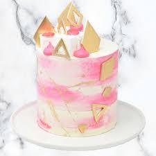 Watercolour Birthday Cake Caroline Goulding Cake Design
