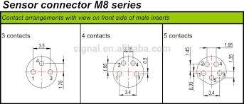 m8 circular connector 3pin 4pin 5pin plug socket buy plug socket m8 circular connector 3pin 4pin 5pin plug socket
