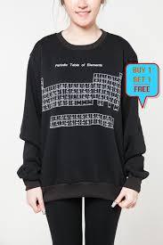 Periodic Table of Elements shirt sweater women sweatshirt men