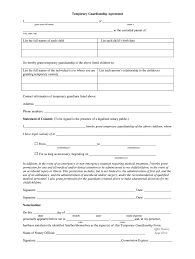 Notarized Letter Of Guardianship Temporary Guardianship Form Fill Online Printable