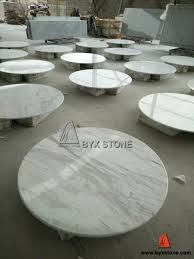 white volakas marble round stone table top for houses hotel