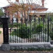 wrought iron fence brick. Wrought Iron Gates Melbourne Fence Brick
