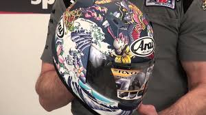 Arai RX-Q Matte Oriental Helmet Review from SportbikeTrackGear.com - YouTube