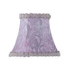 periwinkle damask silk bell clip chandelier shade w fancy trim