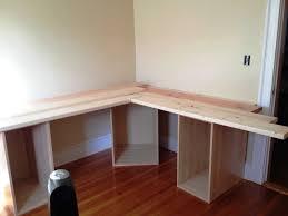stunning natural brown wooden diy corner desk. Home Decor: Homemade Double Computer Desk Best Value 2018 With Stunning Natural Brown Wooden Diy Corner