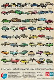 50 Years In Australia 1976 Holden Anniversary Poster