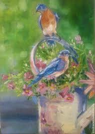 oil painting birds birds oil painting oil paintings oil painting love birds