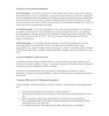 Examples Of References Letters 8 Character Letters Of Recommendation