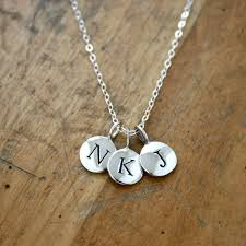 necklaces marvellous initial pendant necklace silver sterling
