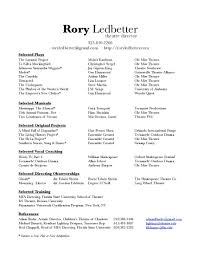 Theatrical Director Resume Musical Theatre Resume Examples Sevte 3