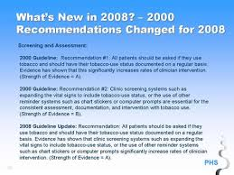 45 Whats New In 2008 2000 Recommendations Changed For
