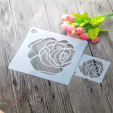 Garden Design Spray Paint Us 1 69 15 Off Flirtatious Roses Scrapbooking Tool Card Diy Album Masking Spray Paint Template Cake Stencils Laser Cut Templatesst168 In Tools From