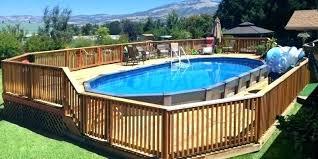 diy above ground pool deck ideas aluminum above ground pools back over the lap yards diy above ground pool deck ideas