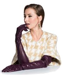 italian silk lined opera leather gloves 16 on length