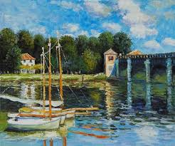 famous oil painting reion la villa di statisti by claude monet landscape art high quality hand