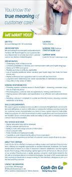 job ad account manager tallinn full time work in shifts full job ad account manager tallinn full time work in shifts full time work cash on go limited cv online