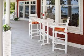 Patio Bar Table Set  SosfundOutdoor Pub Style Patio Furniture