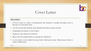 cover letter definition