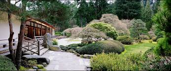 Japanese garden landscape detailed