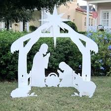 outdoor white nativity set outdoor nativity silhouette holy night outdoor nativity set daytime alternate view outdoor
