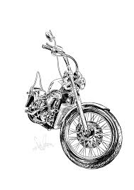 мото байк мотоцикл тату эскиз Tattoo Kotink Kotink