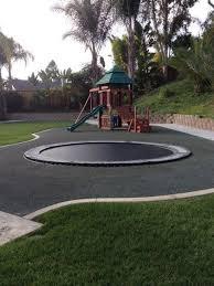 in ground trampoline. In-Ground Trampoline Are Safer Way To Jump High In Your Backyard - #fun Ground N