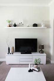 Living Room Console Cabinets Contemporary Living Room Style Ikea Media Console Cabinet Black Center Entertainment Tv Stand White Finishing Vinyl Materials 3 Pieces Tiered Rectangle