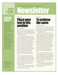 Newsletter Format Examples Best Photos Of Newsletter Template Examples Free