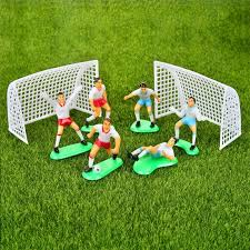 2019 football boys miniature figurine spoart team cake decoration mini fairy garden party action figures home ornaments gift from bananain 18 91 dhgate