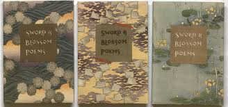 kenneth spencer research library blog sword and blossom poems image of the three volumes of sword and blossom poems